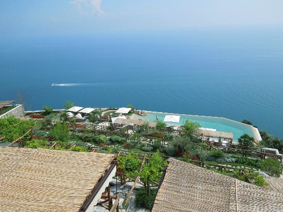 Monastero Santa Rosa Hotel & Spa: view from dining terrace