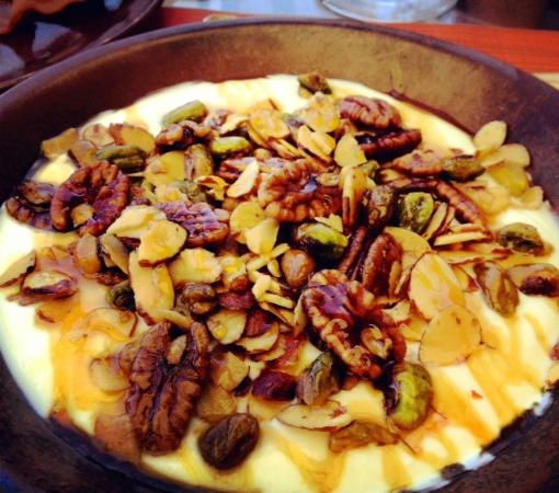 Montage Beverly Hills: Organic yogurt with honey and nuts. I'm craving this as I type.