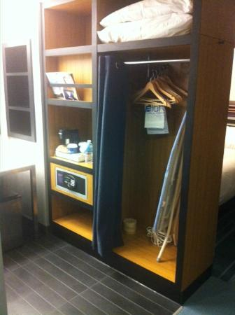 Aloft San Francisco Airport: The closet in the vanity area - it's about a foot deep.