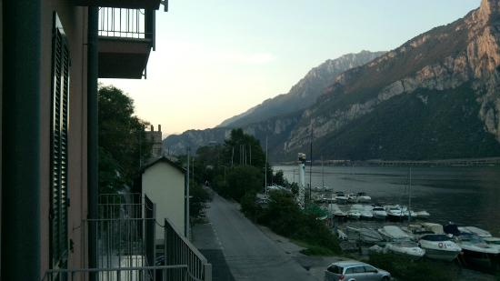 Hotel Bellavista: View from our balcony looking north. Lecco to the right...