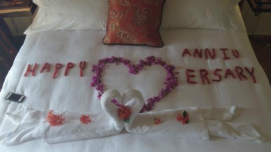 Chabil Mar: The personal touch extended for our 10 year anniversary that was waiting on our bed out of flowe