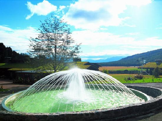 fountain in frount of reception Takaro Lodge Te Anau