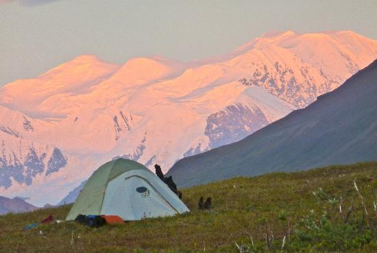 St. Elias Alpine Guides: Evening at Skolai base camp