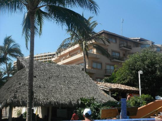 Friendly Vallarta Resort: view of our room from adult infinity pool