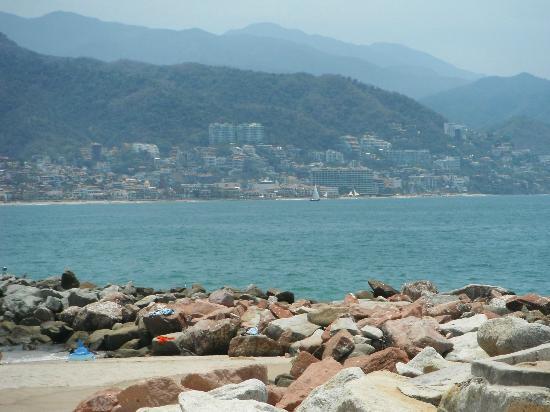 Friendly Vallarta Resort: view of downtown pv from beach