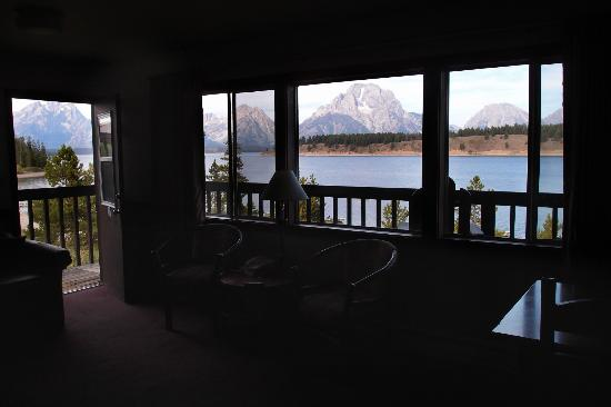 Signal Mountain Lodge: view from inside
