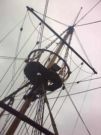 Golden Hind Museum Ship: Mainmast