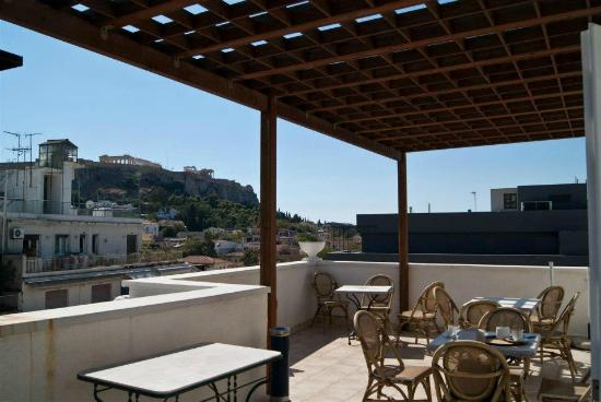 Athos Hotel: Terrace