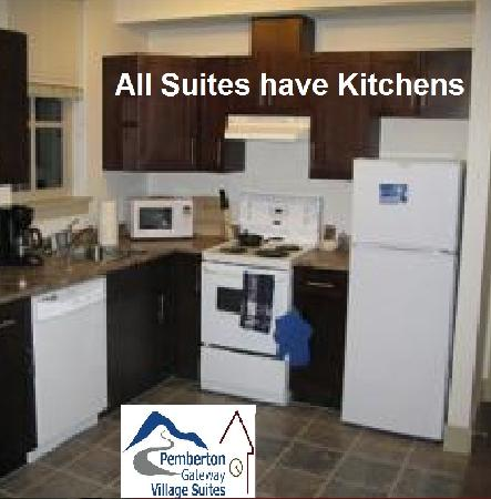 Pemberton Gateway Village Suites Hotel: Allsuites have kitchens