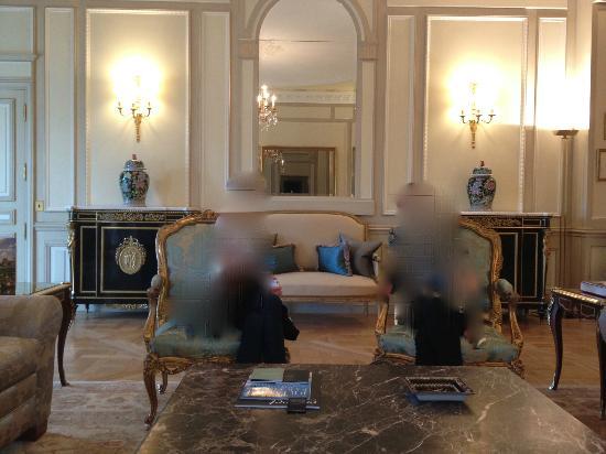 Le Meurice: salon de la suite présidentielle