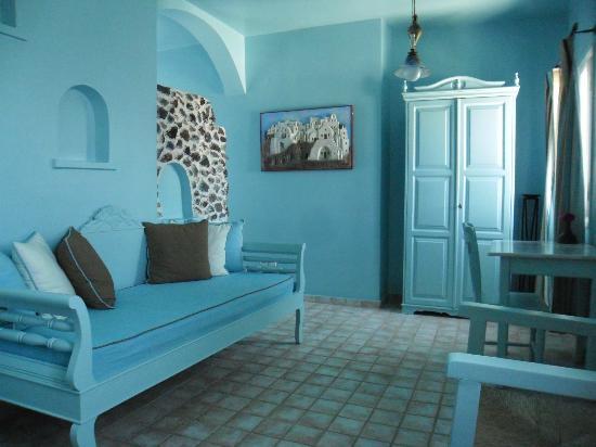 Santorini's Balcony: séjour de l'appartement