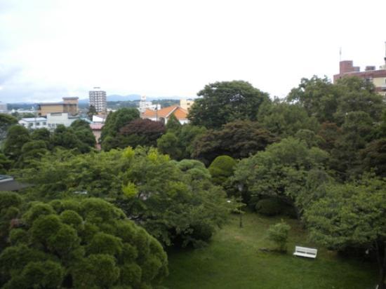 KKR Hakodate: 窓から見えた庭