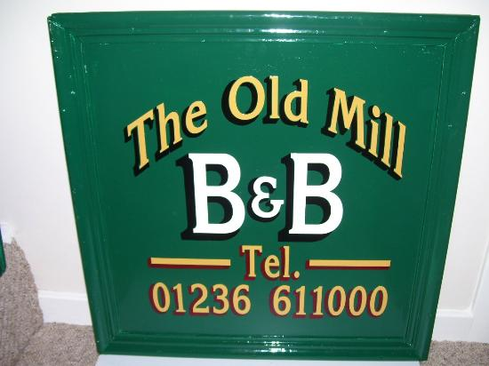 The Old Mill B&B Sign