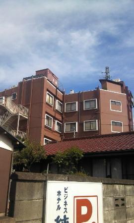 Business Hotel Junwa: 裏側から