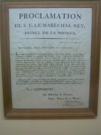 The Wellington Museum: Proclamation by His Excellency Marshal Ney, Prince of Moscow