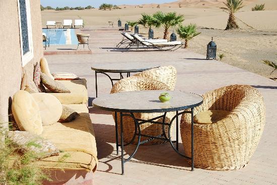 Hotel Kasbah Kanz Erremal: En la terraza