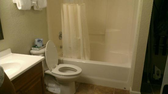 Smokyland Motel: Spotless bathroom and well stocked