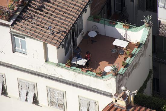 Residenza Giotto: Our sunny terrace from Giotto's Campanile