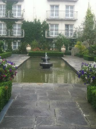 The Merrion Hotel: The beautiful outdoor secret garden, full of flowers & Fauna