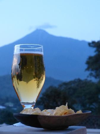 ‪‪Onsea House Country Inn & Guest Cottage‬: Pre dinner drink with Mt. Meru