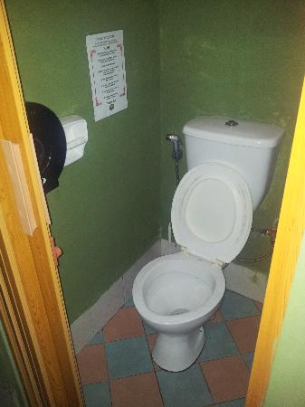 Borneo Backpackers: clean toilet