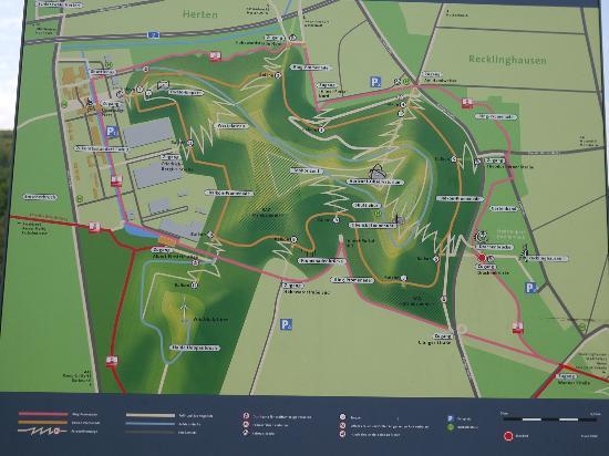 Halde Hoheward: Map