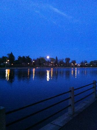 Rideau Canal: Moonrise over Canal in the Glebe