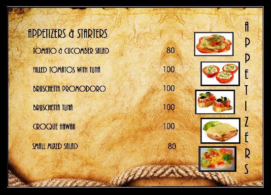 Slow Motion Restaurant & Lounge: menu