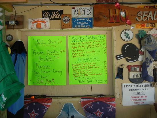 Menu picture of little jim 39 s fish camp fort pierce for Fish camp menu