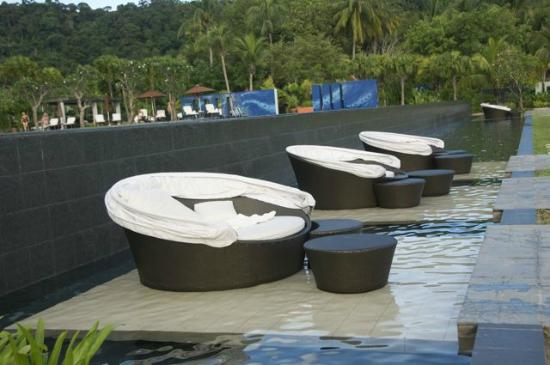 The Danna Langkawi: the loungers by the pool