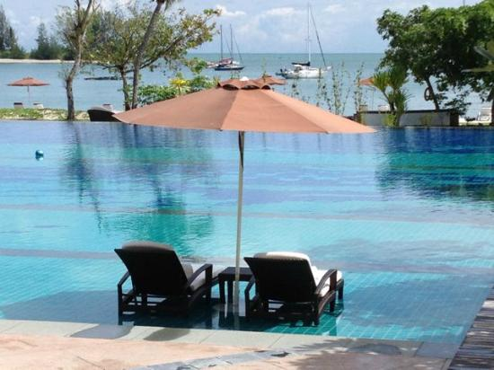 The Danna Langkawi: the swimming pool - loungers were on the pool.