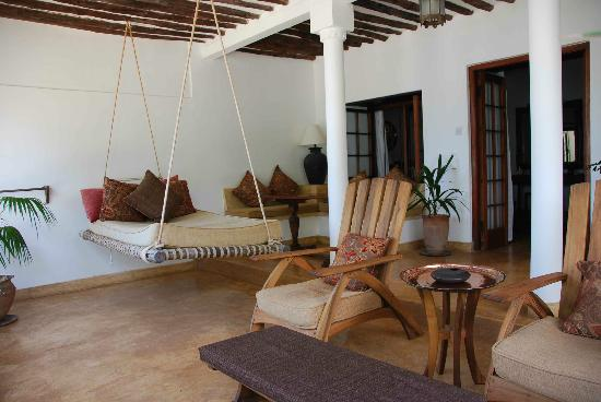 Peponi Hotel: Private veranda for relaxing or eating