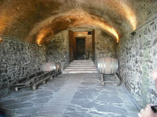 Tuscan Tour Time: Entrance to the second winery - built in the 1400's
