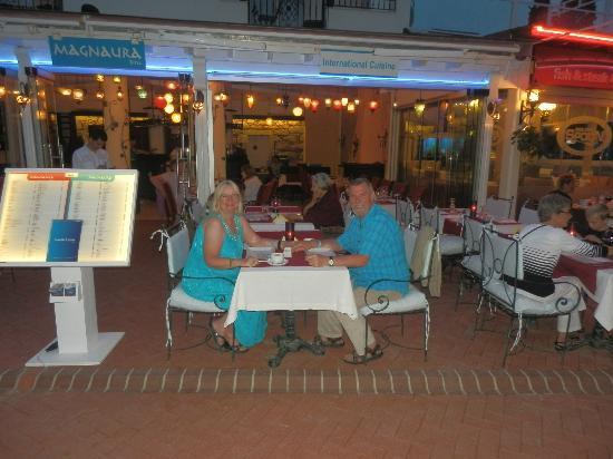 Magnaura fusion restaurant: David & Chris