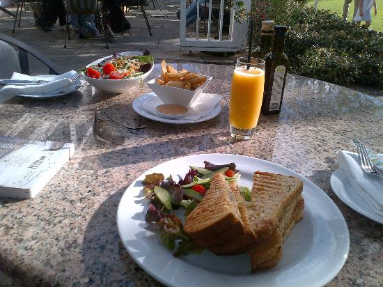 Vineyard Hotel: Yummy Hotel Sandwich with Slightly Artificial OJ