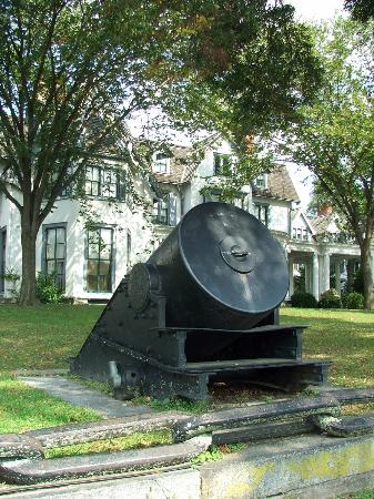 ringwood manor with forged cannon picture of ringwood state park