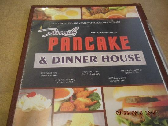 Family Pancake House: menu