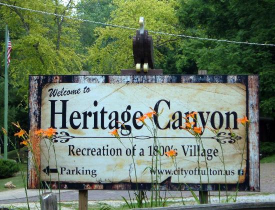 Heritage Canyon: Watch for the entry sign