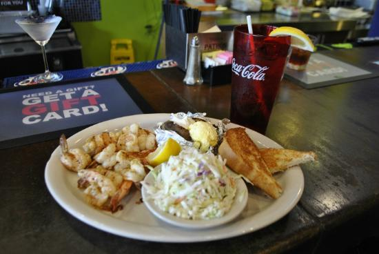 Podnuh's Rib House and Grill: Shrimp, Baked Potato and Cole Slaw