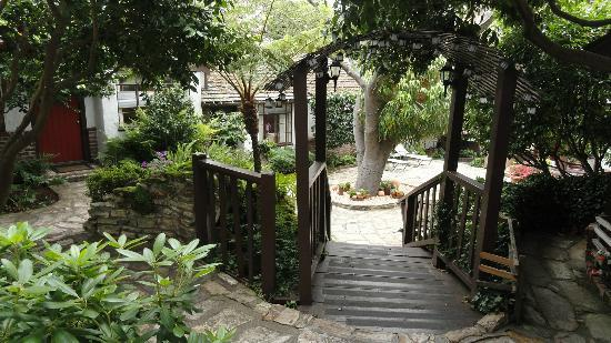 Vagabond's House Inn: the lovely small garden