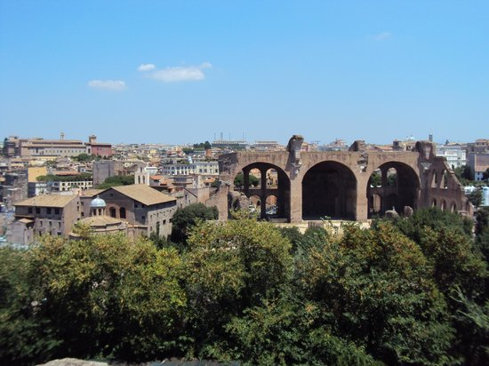 Forum Romain (Foro Romano) : Vista do Palatino