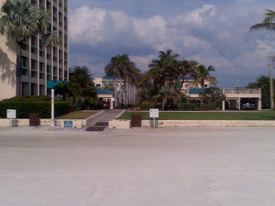 The Palm Bay Club: View from Beach