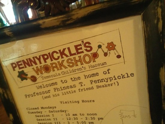 Pennypickle's Workshop - Temecula Children's Museum