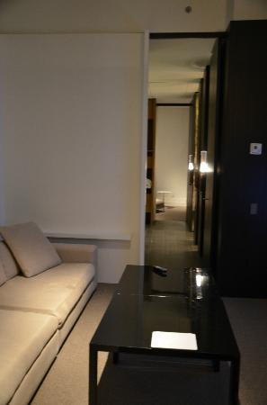Andaz 5th Avenue: long view of all 3 rooms in suite