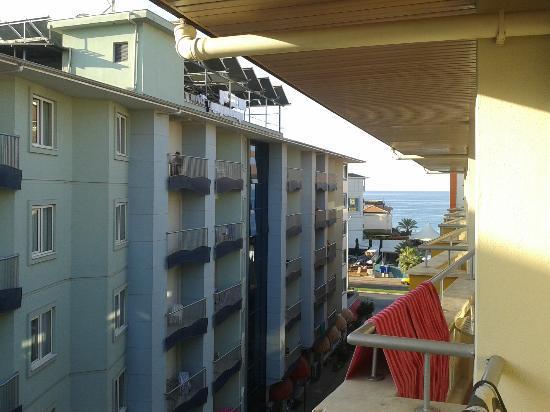 Bilkay Hotel: uitzicht vanaf 4e verdieping