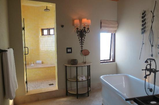 The Resort at Pedregal: Bathroom/large shower (sliding door to plunge pool)