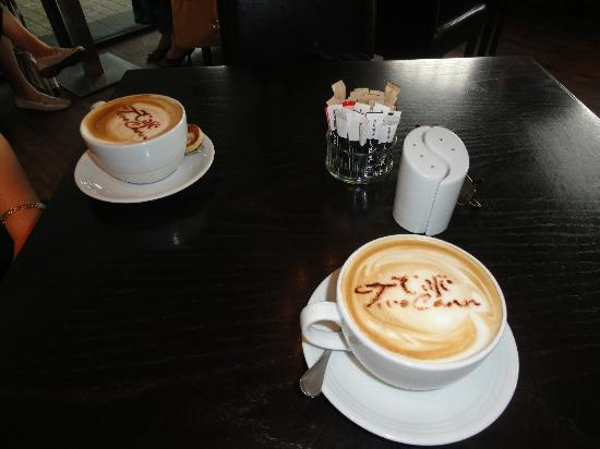 Really cool cappuccino at Cafe TwoCann