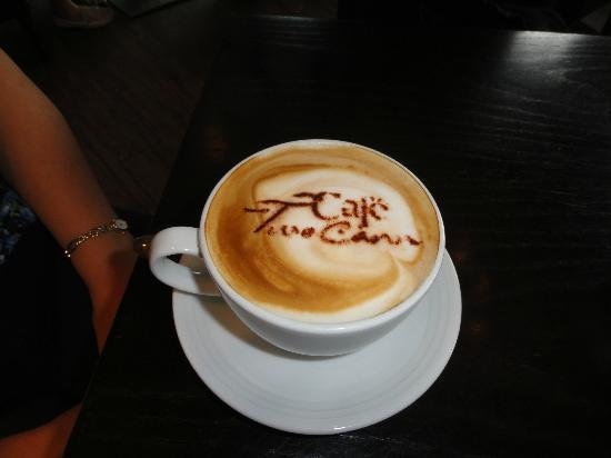 Close up of a cappuccino at Cafe TwoCann