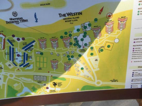 map - Picture of The Westin Denarau Island Resort & Spa ...