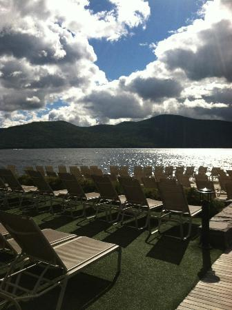 The Sagamore Resort: on the deck